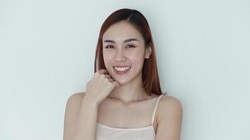 retrato de mujer sonriente