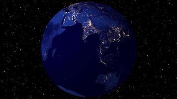 animation de rotation de la terre