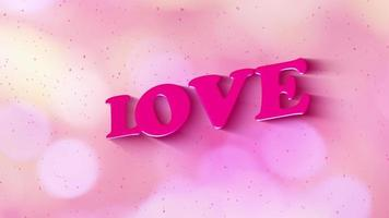 LOVE animated motion graphic text