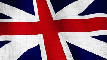 closeup da bandeira britânica do reino unido soprando