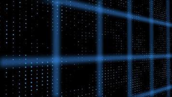 introdução futurista padrão de grade de pontos 3d video