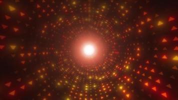 túnel de luz abstrato para loops vj com triângulos video