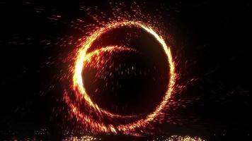 anillo de fuego chispas y giros video