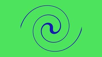 vídeo de animação de rodopio de linha video