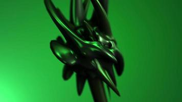 criatura de forma abstracta 3d