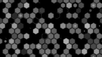 animação de padrão de hexágono video