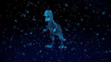 conceito de exibição de dinossauro de tecnologia holográfica