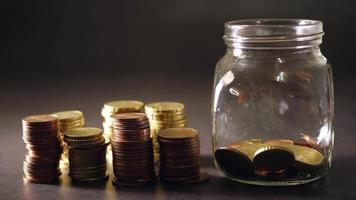 fundo de moedas de euro video