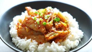 Stir-fried Pork with Kimchi with Rice video