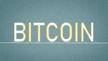Bitcoin-Text auf statischem Hintergrund video