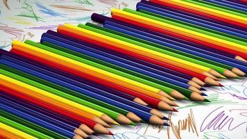 rouler des crayons de couleur