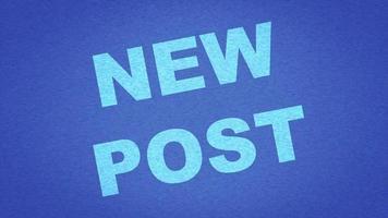 nueva redacción de la publicación en azul claro