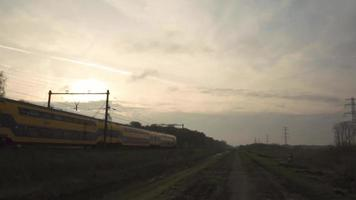 A  Dutch Train Passing