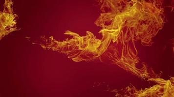 animação de explosões de fogo