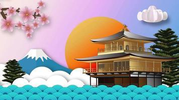 Japan Banner Illustration