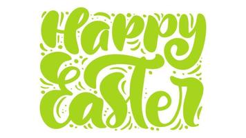 Happy Easter Green Animation Greeting Card
