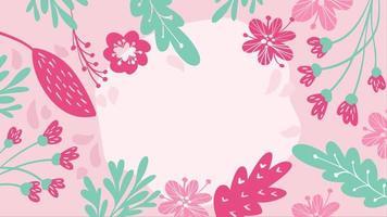 marco escandinavo floral con flores