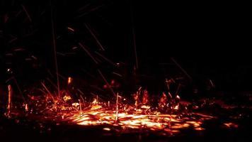 salpicaduras de agua roja abstracta video