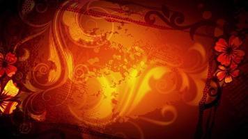 Fondo de patrón naranja rojo abstracto