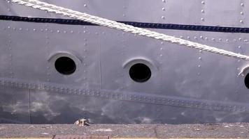 ventanas en un ferry o un crucero.