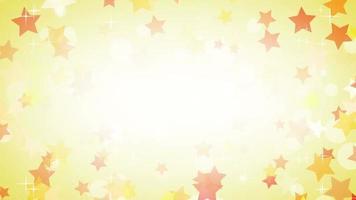hermosas estrellas girando en fondo amarillo brillante video