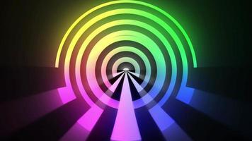 bucle psicodélico colorido abstracto