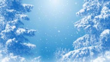 loop de fundo azul sonhador de inverno