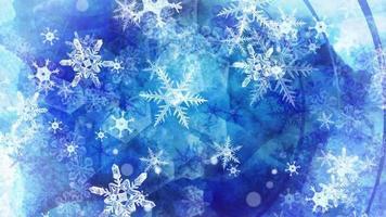 fond de flocons de neige tombant