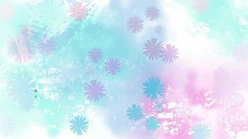 Blooming flowers background