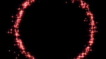um círculo de luz vermelho ardente video
