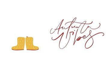 caligrafía animación texto otoño vibraciones.