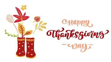 texto animado feliz dia de ação de graças e ilustração video