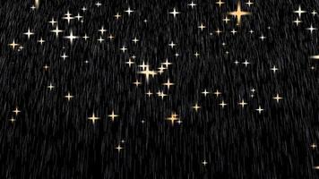 gotas de lluvia doradas y estrellas doradas video