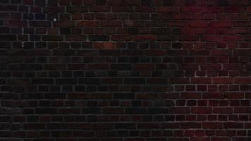 luci colorate sul muro di mattoni video