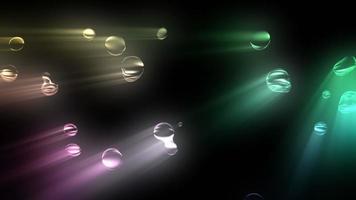 bucle de burbujas de colores