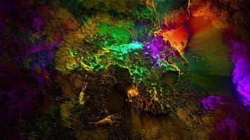 fondo oscuro y colorido