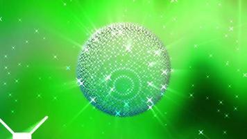 animation de boule disco rougeoyante