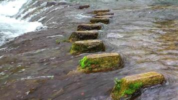 Stones Steps in the Waterfall
