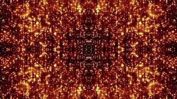 partículas doradas viajan
