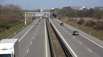 Motorway with Cars Passing By