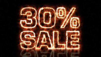 treinta por ciento de venta
