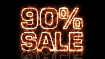 noventa por cento cartas flamejantes de venda