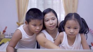 Asian Family Working From Home Concept video
