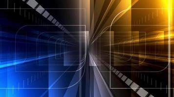 abstrait à l'intérieur du fond du tunnel video