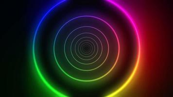 loop de fundo de anéis coloridos