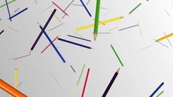 pluie de crayons