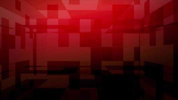 fundo de grade de cubo vermelho video