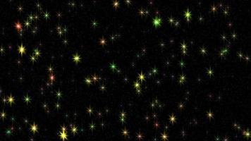 kleurrijke glinsterende sterren video