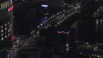 time-lapse van stadsverkeer