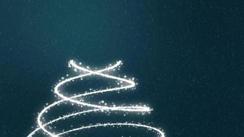 Christmas Tree Background - Merry Christmas blue